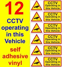 12 CCTV operating in this vehicle stickers car taxi uber bus van truck cab