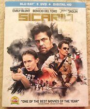 Sicario Blu-ray disc ONLY w/ case & slipcover * NO DVD NO DIGITAL COPY*