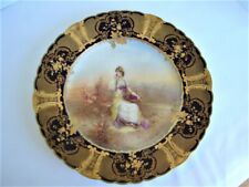 Gorgeous Hand Painted Gilt Encrusted French Portrait Plate - Sophia Vendemiarie