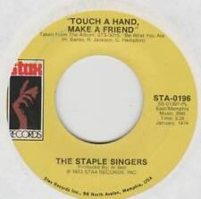 STAPLE SINGERS 45 TOUCH A HAND, MAKE A FRIEND B/W TELLIN' LIES VG+ STAX 0196