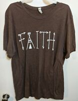 Faith T Shirt Inspirational Spiritual Shirt Canvas Bella + Canvas, XL