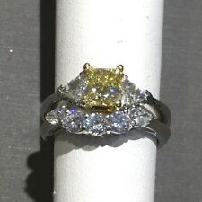 Fancy Yellow Diamond Engagement Ring Set