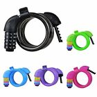 ROCKBROS Bicycle 5 Digit Code Lock Combination Coiled Cable Cycling Lock 5 color