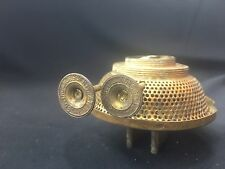 Antique Duel Wick Incandescent Pat 7.28.85 Kerosene Lamp Burner 3""