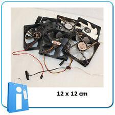 LOTE 6 x Refrigerador Ventilador Case Fan 12x12 cm lot USADO