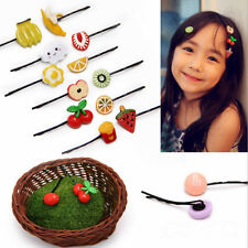 5pcs Lovely Fruit Baby Hair Pins Clip Girls Cute Bobby Pin Kids Hair Accessories