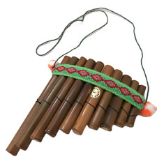More details for hand made south american bamboo pan pipes peruvian mouth wooden flutes bamboo