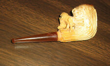 Vintage Meerschaum Pipe with Case, Hunting Dog with Rabbit
