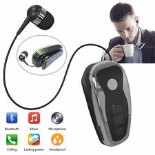 Retractable Bluetooth Headset Wireless Stereo Earpiece for iPhone Huawei LG Moto
