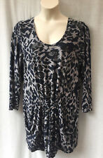 Yarra Trail Size 20 Tunic Top Stretch Animal Print Work Smart Casual Evening