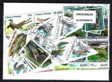 Crocodiles 50 timbres différents oblitérés