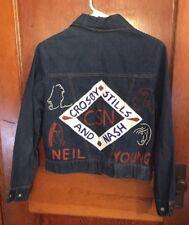 Crosby, Stills, Nash & Young Jacket Levi's Jean Woman Small