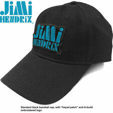 More details for jimi hendrix - blue stencil logo - baseball cap. official licensed merchandise