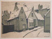 Edmund Schaefer - Dorfansicht - Lithographie - 1909