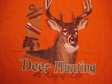 NEW Deer Hunting A Way Of Life Orange T Shirt Men's Size M