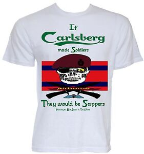 Royal Engineers Airborne Sapper T-Shirt 9 Para  23 Para 299 Para RE TShirt