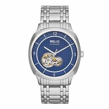 Relic by Fossil Mason Blue Dial Stainless Steel Automatic Men's Watch ZR77262