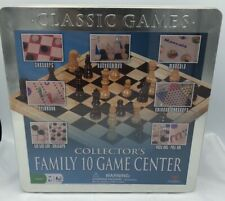 Cardinal Classic Games - Family 10 Game Center in Tin Box NEW. Sealed.