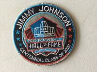 """JIMMY JOHNSON 2020 CENTENNIAL NFL HALL OF FAME 4"""" PATCH DALLAS COWBOYS"""