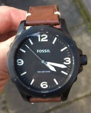 MENS FOSSIL JR-1450 LEATHER STRAP WATCH FULLY RUNNING LOVELY CONDITION