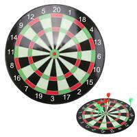 """15"""" Inch Magnetic Dart Board Dartboard Game Play For Adults Or Kids With 6 Darts"""