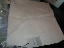 """West Elm textured boucle stone white Pillow Cover 18"""" monogrammed M New"""