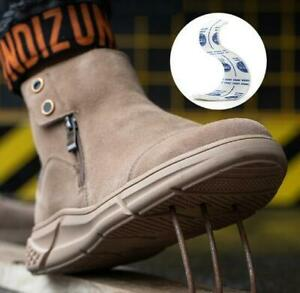 Fashion Men Safety Shoes Lightweight Steel Toe Cap Outdoors Hiking Work Boots