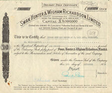 Swan Hunter & Wigham Richardson Limited > England shipbuilding stock certificate