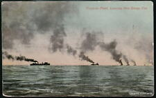 SAN DIEGO CA Torpedo Fleet Leaving Vtg 1915 Expo PC