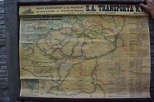 Ancienne carte des voies navigables de Belgique Anvers des années 60