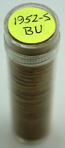 1952-S Roll of Lincoln Wheat Cents - Red Unc/Uncirculated