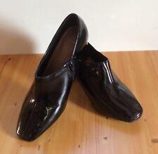 Para Mujeres Nuevo M&S Insolia Negro Patente zapato bota 7-Ancho del pantalón (EUR40.5)