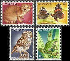 Luxembourg Oiseaux Rapaces Hiboux Chouettes Owls Birds Eulen Vogel ** 1985 20€