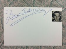 Dana Andrews - Laura - The Best Years of Our Lives - Autograph