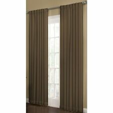 "Allen Roth Beeston Espresso Room Darkening Interlined Curtain Panel 50"" W x84""L"