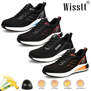 Men's Shoes Air Boots Bulletproof Steel Toe Womens Safety Work Running Trainers