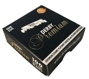100 Derby Premium Single Edge Razor Blades - Fast Shipping