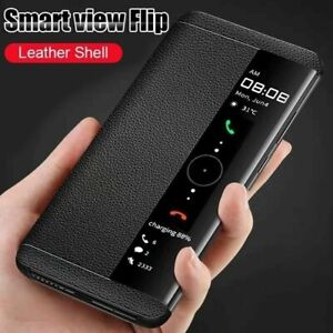 Handyhülle Für Samsung S21 S20 Plus Ultra Schutz Leder Flip Stand Tasche Mirror