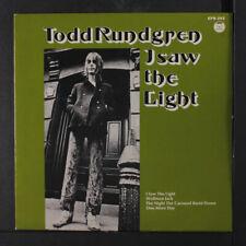 """TODD RUNDGREN: i saw the light +3 Bearsville 7"""" Single"""