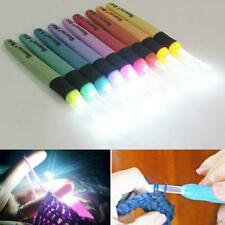 9Sizes LED Crochet Hooks Set Light up Knitting Needles Tool Sewing C Weave T6Q0