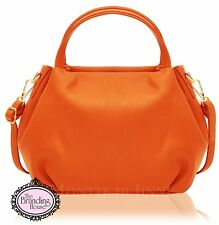 new ladies vera pelle Italian classic womens leather handbag with shoulder strap