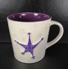 Starbucks Holiday 2011 Embossed Stars 17oz Mug Purple