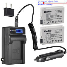 Kastar Battery LCD AC Charger for Canon LP-E8 LC-E8 & Canon EOS Kiss X5 Camera