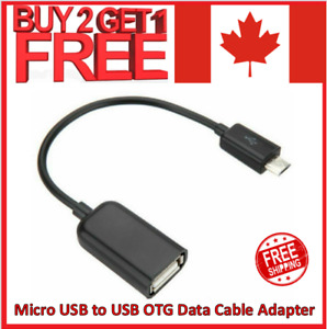 Micro USB Cable Male Host to USB Female OTG Adapter Android Tablet Phone PDA PC