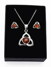 """Sterling Silver Amber 16 - 17.99"""" Fine Necklaces & Pendants"""