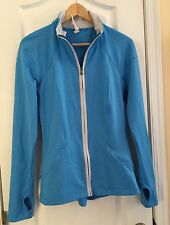NWT $120 Under Armour StudioLux Blue Fitted Zip Up Sports Jacket Coat Women's M