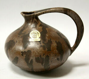 Henkelvase Ruscha,Kurt Tschörner,Keramik Vase Lava,313, ceramic 60's pottery,TOP