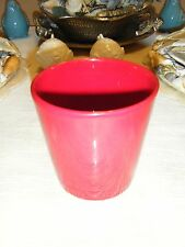 RED 4 INCH CERAMIC FLOWER POT