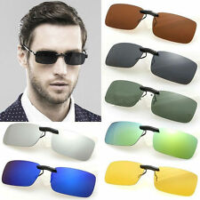 Polarized Day Night Vision Flip-up Clip-on Lens Driving Glasses Sunglasses-US