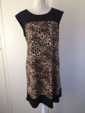 Ladies Connected Apparel Leopard Print Dress - Size 12